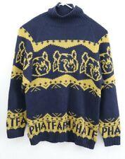 Vintage Phat Farm Men Sweater Size XL Navy Yellow Turtle Neck
