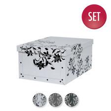 3 Stück XXL Deko Karton Geschenkkarton Karton Box Schachtel Barock Motive