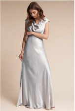 New BHLDN Ghost London Gloss Gown Dress Formal Bridesmaid Wedding Blue Small S