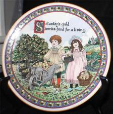 Vintage 1993 ROYAL WORCESTER Birthday Plate Sue Scullard SATURDAY'S CHILD Plate
