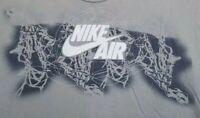 Nike Air Graffiti Basketball Net T-Shirt Men's Size Medium Gray short sleeve