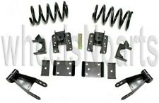2/4 Drop Lowering Kit Coils Shackles Hangers Flip For 2007-18 Chevy Silverado V8