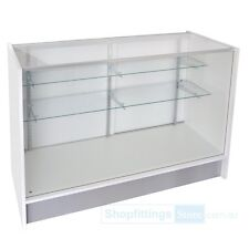 Glass Display Counter ShowCase White 1220(l)x510(w)x970(h)