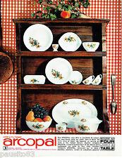 PUBLICITE ADVERTISING  026 1965  Arcopal  opaline  assiettes cocotte verre a feu