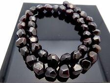 "Natural Genuine Faceted Nugget Garnet Freeform Gemstone 42 Beads Strand 16"""