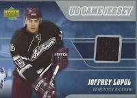 2006-07 Upper Deck Game Jerseys #JJL Joffrey Lupul Jersey - NM-MT
