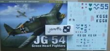 JG 54. Green Heart Fighters (decals)  - Kagero Units  - English!!!