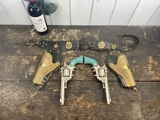 Vintage Hubley Texan 38 Toy Guns Turquoise Grips With Holster