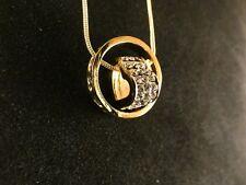 Anhänger 24 Karat Gold Ring Herz Strass Liebe Love Halskette Schmuck Deluxe