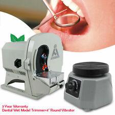 Wet Dental Model Trimmer Abrasive Disc Wheel Gypsum Arch Lab Vibrator 4 Round