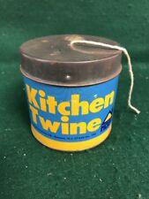 "Vintage String / Advertising Twine Holder/ Tin ""Kitchen Twine"" by HOAN"