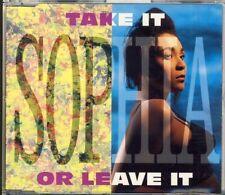 SOPHIA - take it or leave it    5 trk MAXI CD 1993