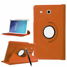"""For Samsung Galaxy Tab E 9.6"""" T560 T565 Case Stand Cover 360 Leather Orange"""