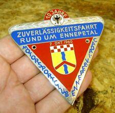 PLAKETTE ADAC Zuverlässigkeitsfahrt ENNEPETAL 10 Jubiläum 1960 antik badge Ru-37