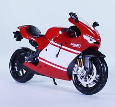TM05WT DUCATI Desmosedici RR Street Diecast Model Motorcycle Bike Red WHITE 1:12