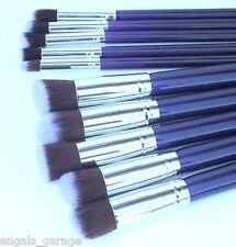 10 Piece Purple Makeup Brush Set