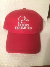 NEW 2014 DUCKS UNLIMITED ST. LOUIS CONVENTION HAT RED STRAPBACK EMBROIDERED C2