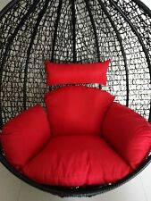 Brand New * Replacement Egg Chair Cushion set for Swing Pod Wicker Chair * Red