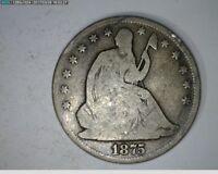 1875 50C Seated Liberty Half Dollar ( 28s216 )