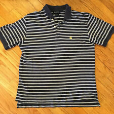 Brooks Brothers Mens Large Striped Cotton Polo Shirt