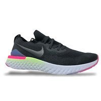 Nike Epic React Flyknit 2 Mens Running Shoes Size 15 Black/Sapphire BQ8928 003