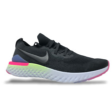 Nike Epic React Flyknit 2 Mens Running Shoes Size 12.5 Black/Sapphire BQ8928 003