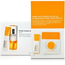 Clinique Fresh Pressed Booster w/ pure Vitamin C 10% 1.5ml Cleanser 0.5g 1 Set