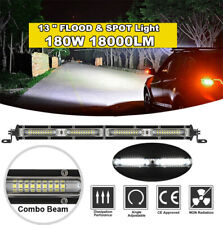 "13"" 18000LM Straight Single Row Led Light Bar Spot Flood Combo Beam Work Light"