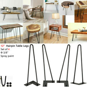 """12"""" Heavy Duty Hairpin Coffee Table Legs (Set of 4), Metal Home DIY Projects US"""