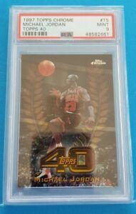 1997-98 Topps Chrome Michael Jordan Topps 40 PSA 9 MINT 🔥📈
