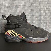 Nike Air Jordan Retro 8 VIII Playoffs Size 6Y Womens Size 7.5 Black 305368-061