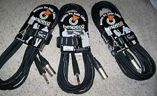 3 Cavi CANNON XLR Maschio - JACK 6MT Cavo per Casse MIXER,Bespeco Made in Italy