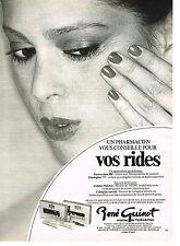 "PUBLICITE ADVERTISING  1981   RENE GUINOT  cosmétiques "" vos rides"""