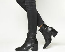 Womens Vagabond Black Leather Zip Ankle Boots Size UK 6 *Ex-Display