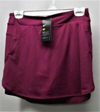 Junior Girls Nike Dri Fit Size Large poly spendex burgundy slip on golf skorts
