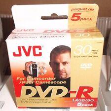 JVC 5-pack DVD-R Model Vdr14Eu Mini Dvd-R Camcorder DVD Recordable ( 5 DVD's)