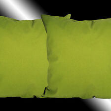 """2X SOFT SIMPLE LIME GREEN DECORATIVE THROW PILLOW CASES CUSHION COVERS 17.5"""""""