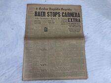 Max Baer Primo Carnera Boxing Cedar Rapids Newspaper Pony Express 1934 Vtg