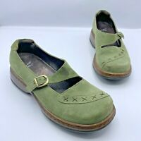 Dansko Women Green Suede Mary Jane Comfort Shoe Size 6.5 - 7 EUR 37 Pre Owned