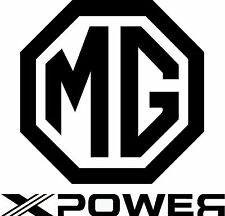 2 x MG X-POWER Logo Vinyl Cut Sticker Decals 110mm x 115mm - FREE UK DELIVERY