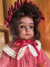 Rare 18� Kammer Reinhardt Black Brown Bisque Antique Doll Simon Halbig Aa