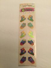 Sandylion Vintage 80's Sneakers Shoes Stickers 3 Squares New Mother Of Pearl