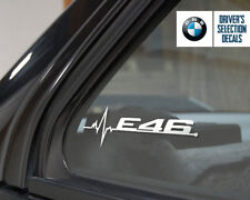 BMW E46 is in my Blood window sticker decals graphic