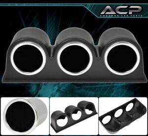 "3 Black Abs 2"" Holder Pod Cup Gauge Air Fuel Ratio Water Temperature Voltage New"