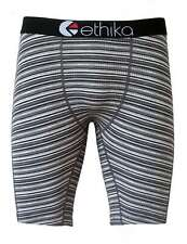 New Ethika Black Stripe Man/Woman Underwear Sports Shorts Boxer Pants Size M
