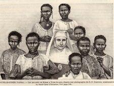 YULE ISLAND ENFANTS DE SOEUR MARIE NOUVELLE GUINEE NEW GUINEA IMAGE 1893 PRINT