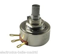 POTENTIOMETER PEC 250K AUDIO 24mm KNURLED SHAFT FOR BASS OR GUITAR - THE BEST!