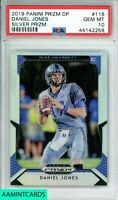 2019 PANINI PRIZM DP Daniel Jones #116 SILVER PRIZM ROOKIE RC PSA10 GEM MINT