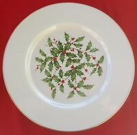 "Lenox China Holiday (Dimension / Presidential) DINNER 10.5"" PLATE  MINT!!!"