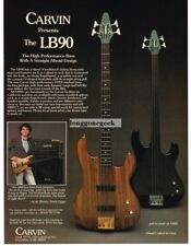 1987 CARVIN LB90 Bass Guitar SCOTT THUNES Bassist for Frank Zappa Vtg Print Ad